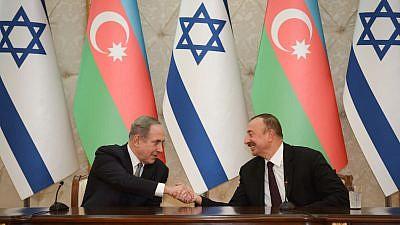 Israeli Prime Minister Benjamin Netanyahu visits Azerbaijan on Dec. 13, 2016. Credit: Haim Zach/GPO.