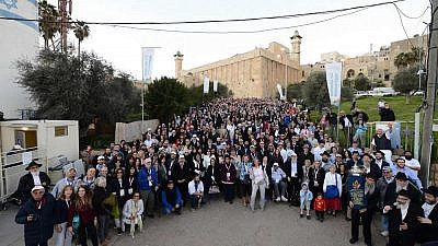 Nearly 800 participants from 80 communities around the world came to Israel, making a stop in Hebron at the Cave of the Patriarchs, with Chabad's Rohr Jewish Learning Institute. (Photo: Bentzi Sasson)