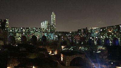 Intro to the new Tower of David Night Spectacular. Credit: Eliana Rudee.