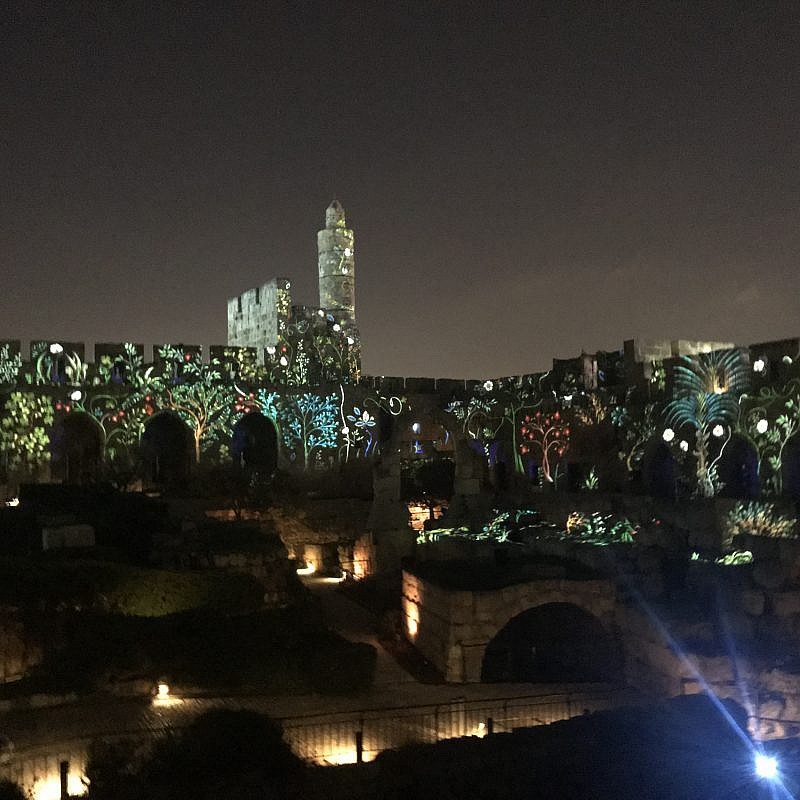 Intro to the new Tower of David Night Spectacular. Credit: Eliana Rudee.