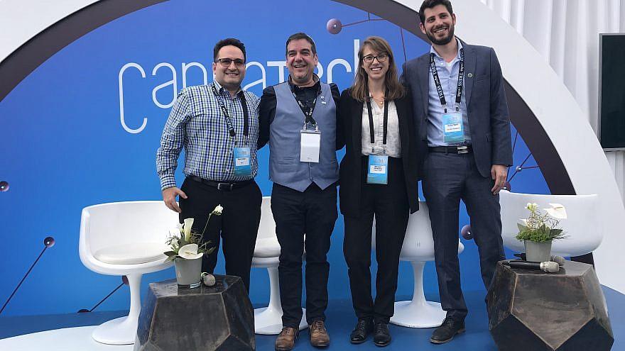 Yona Levy, Saul Kaye, Maayan Weisberg, and Avihu Tamir at CannaTech 2018  Credit: Eliana Rudee