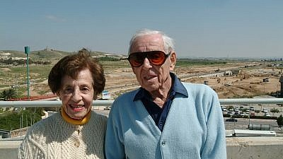 Lottie and Howard Marcus at Ben-Gurion University of the Negev in Beersheva. Credit: Courtesy.