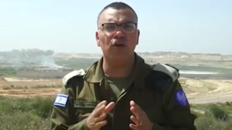 IDF spokesman in Arabic Maj. Avichay Adraee delivers a message to the people of Gaza. Screenshot: IDF Spokesperson's Unit.