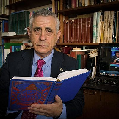 Bar-Ilan University lecturer and scholar of Arabic culture Mordechai Kedar. Credit: Wikimedia Commons.