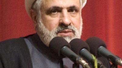 Hezbollah Deputy Secretary General Sheikh Naim Qassem. Credit: Wikipedia.