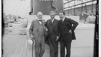 Nathan Straus (left), Louis Dembitz Brandeis (center) and Rabbi Stephen Samuel Wise (right) on March 7, 1922.