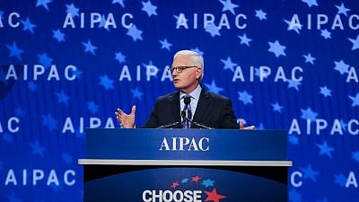 AIPAC CEO Howard Kohr addressing the 2018 AIPAC Policy Conference on March 4, 2018. Credit: AIPAC.