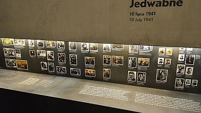 Part of a core exhibition dedicated to the Jedwabne pogrom at the Museum of the History of Polish Jews in Warsaw. Credit: Wikimedia Commons.