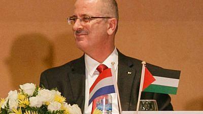 Palestinian Authority Prime Minister Rami Hamdallah. (Credit: Wikimedia Commons)