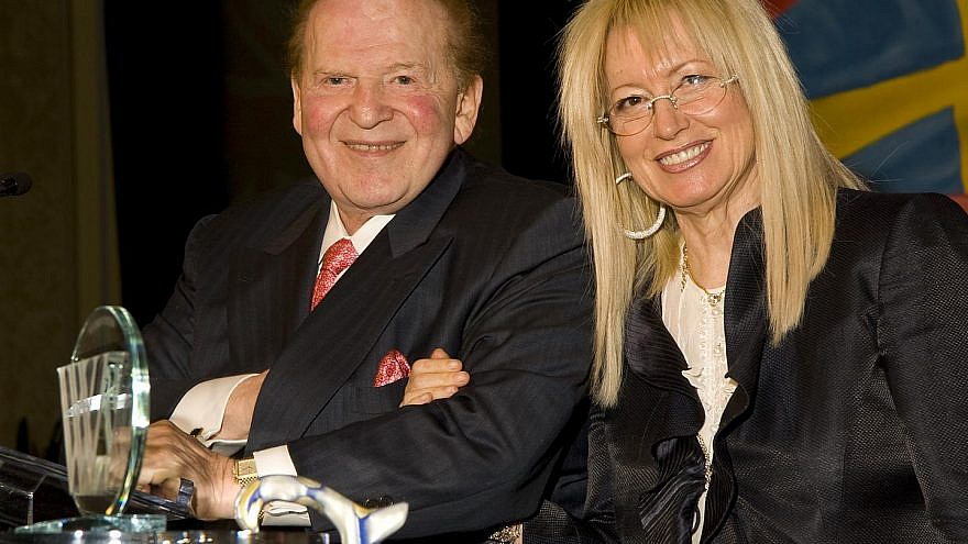Sheldon and Dr. Miriam Adelson. Credit: Wikimedia Commons.