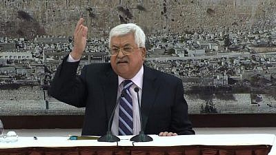 Palestinian Authority leader Mahmoud Abbas. Credit: JCPA.