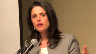 Israeli Justice Minister Ayelet Shaked speaks at an event at the Sixth & I Historic Synagogue in Washington, D.C. Credit: Alex Traiman.