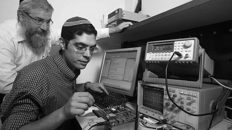 """Testing computer equipment in the """"Startup Nation."""" Credit: Jerusalem College of Technology."""