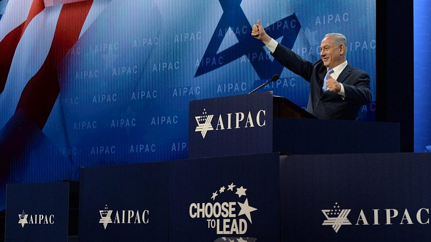 Israeli Prime Minister Benjamin Netanyahu at the 2018 AIPAC Policy Conference. Credit: Haim Zach/GPO.