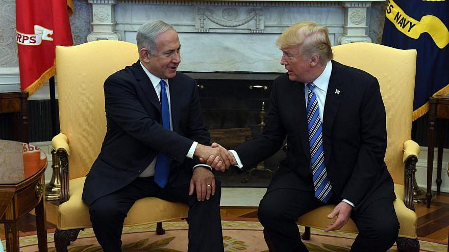 Israeli Prime Minister Benjamin Netanyahu and U.S. President Donald Trump at the White House on March 5, 2018. Credit: Haim Zach/GPO.