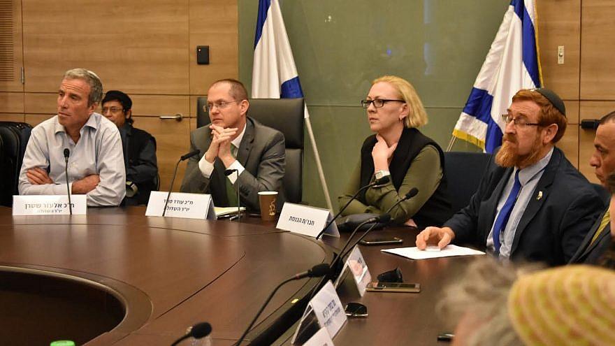 From left: Knesset members Elazar Stern, Oded Forer, Yulia Malinovsky and Yehudah Glick. (Credit: Adi Yossef)
