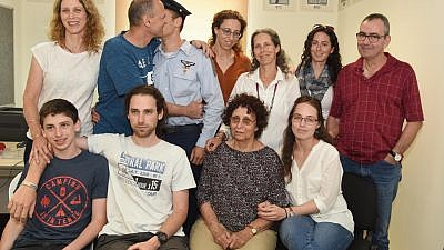 Lt.-Col. Ohad Shadmi's family. Credit: Courtesy.