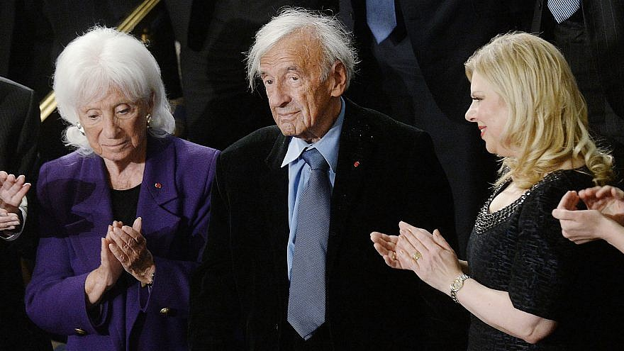 Nobel Peace Prize laureate and Holocaust survivor Elie Wiesel attends Israeli Prime Minister Benjamin Netanyahu's joint session of the U.S. Congress address at the Capitol in Washington, D.C. on March 3, 2015. Photo by Olivier Douliery/Sipa USA