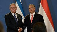 Israeli Prime Minister Benjamin Netanyahu (left) and his Hungarian Prime Minister Viktor Orban hold a joint press conference at the Parliament building in Budapest on July 18, 2017. Credit: Haim Zach/GPO.