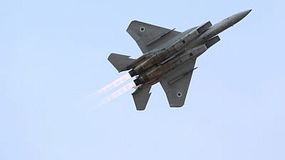 An Israeli jet flying during an Israeli airshow. Credit: Flash90.