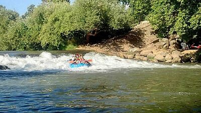 White-water rafting in Israel was a highlight for participants on a Birthright Israel trip for young adults with special needs. (Courtesy of the Friendship Circle)