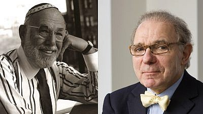 "Sanford (""Zalman"") Berstein (left) and Rodger Hertog. Photos courtesy of the Tikvah Fund and the Hertog Foundation."