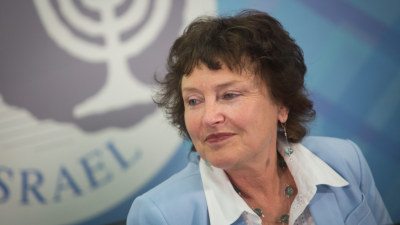 Bank of Israel chief Karnit Flug speaks at a press conference in Jerusalem on March 28, 2018, during the presentation of the Israel bank's annual report. Photo by Hadas Parush/Flash90.
