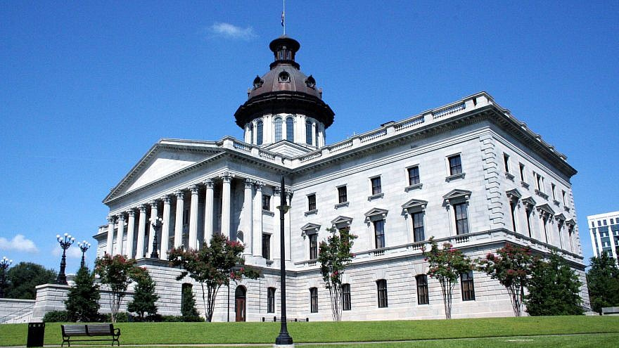 South Carolina State House. South Carolina was one of the first states to pass an anti-BDS legislation back in 2015. Credit: Wikimedia Commons.