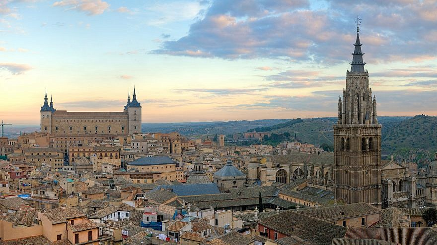 The city of Toledo, Spain. The Lawfare Project sent cease and desist letters to tech firms in the country, demanding that they take action to combat the proliferation of extreme anti-Semitic and Holocaust-denial content on their platforms. Photo by David Iliff. Wikimedia Commons/Creative Commons License.