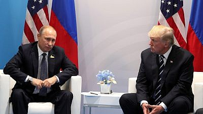 Russian President Vladimir Putin and U.S. President Donald Trump at the G-20 Summit in Hamburg, Germany, in 2017. Credit: Wikimedia Commons.