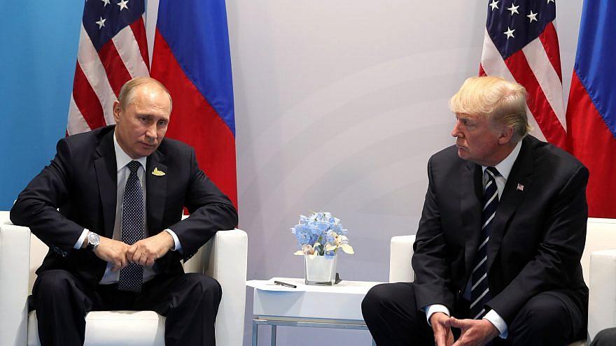 Russian President Vladimir Putin and U.S. President Donald Trump at the G-20 Summit in Hamburg, Germany, in 2017. Credit: Wikimedia Commons.