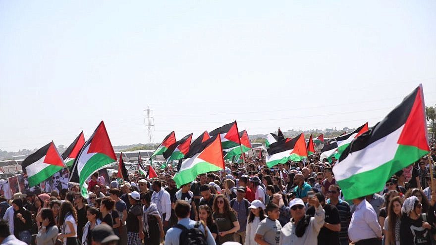 """The """"March of the Uprooted"""" is organized by the Higher Arab Monitoring Committee and is held annually on Israel's Independence Day (Credit: Joint List)"""
