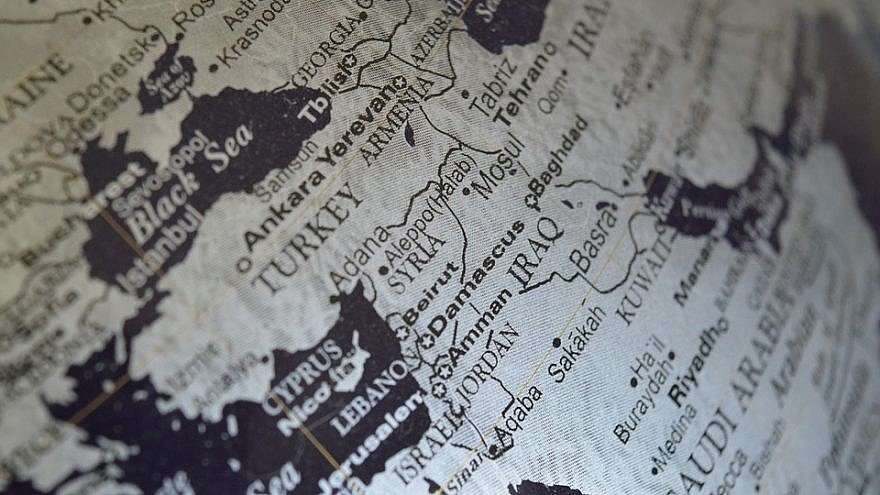 Map of the Middle East.  Creative Commons license.