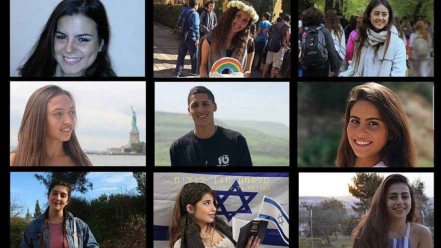 Nine of the 10 victims who drowned in a flash flood near the Dead Sea on the April 26. Source: Facebook.