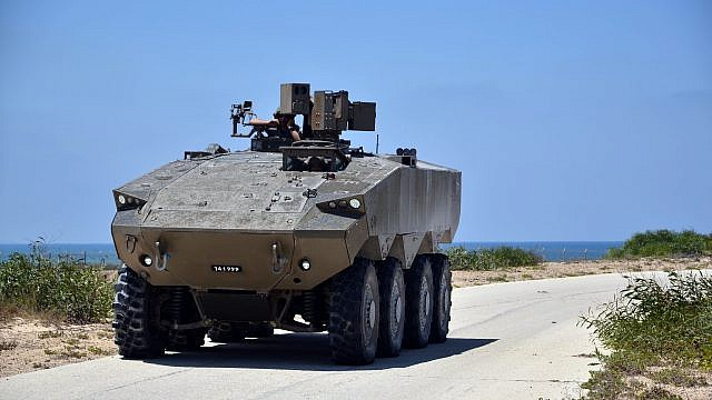 The IDF's new Eitan armored personnel carrier. Credit: Israeli Defense Ministry.