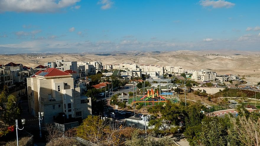View of the Israeli settlement of Ma'ale Adumin in Judea and Samaria on Jan. 1, 2017. Photo by Yaniv Nadav/Flash90.