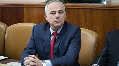 Israel's Energy and Water Minister Yuval Steinitz at the weekly government conference at the Prime Minister's Office in Jerusalem on Oct. 29, 2017. Photo by Ohad Zwigenberg/POOL