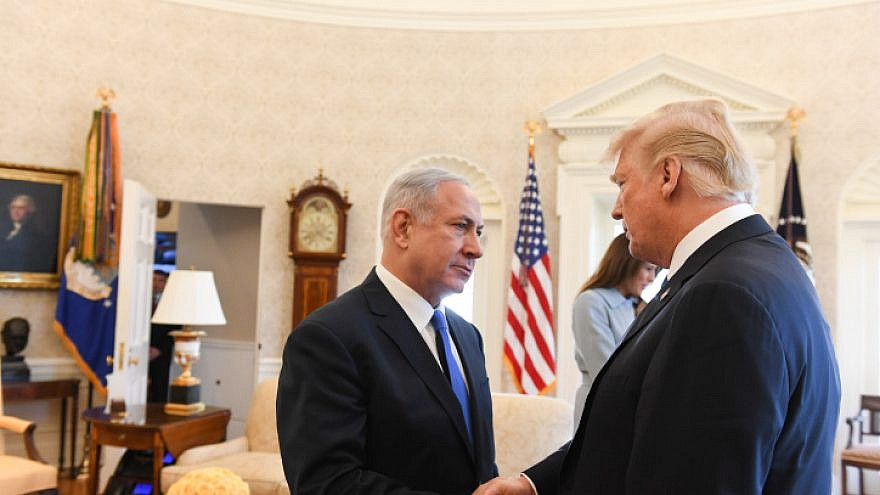 Israeli Prime Minister Benjamin Netanyahu with U.S. President Donald Trump at the White House in Washington D.C., on March 5, 2018. Photo by Haim Zach/GPO.