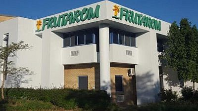 Frutarom, based in the coastal city of Haifa.