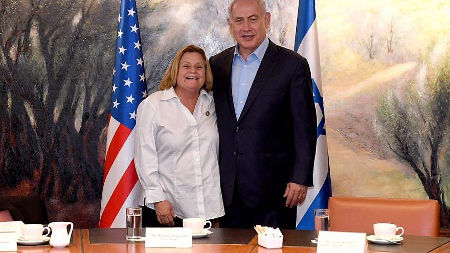 Rep. Ileana Ros-Lehtinen (R-Fla.) with Israeli Prime Minister Benjamin Netanyahu. Credit: GPO.