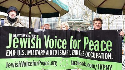 Jewish Voice for Peace. Photo courtesy of NGO Monitor.