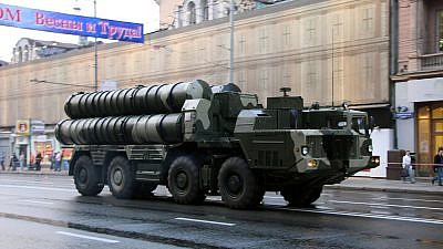 A Russian S-300 surface-to-air missile system on display in Moscow in 2009. Credit: Wikimedia Commons.