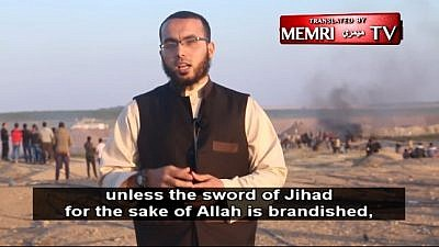 "Khaled Hany Morshid: ""Allah mentioned the enmity of the Jews toward Islam and the Muslims in His book."" Morshid posted the video of himself on his social-media channels on April 14. (MEMRI)"