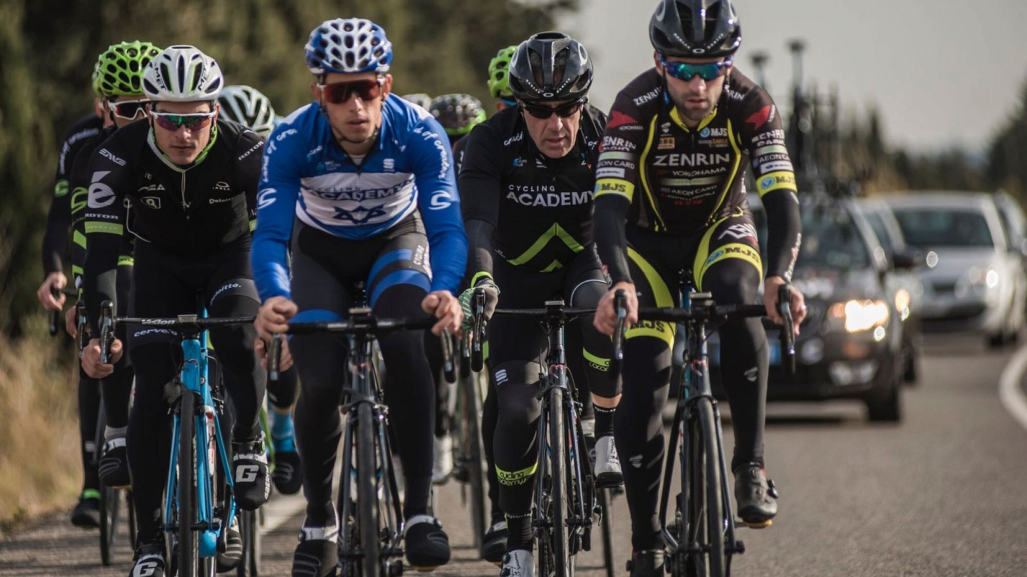 Sylvan Adams training with Israel Cycling Academy. Credit: Israel Cycling Academy.
