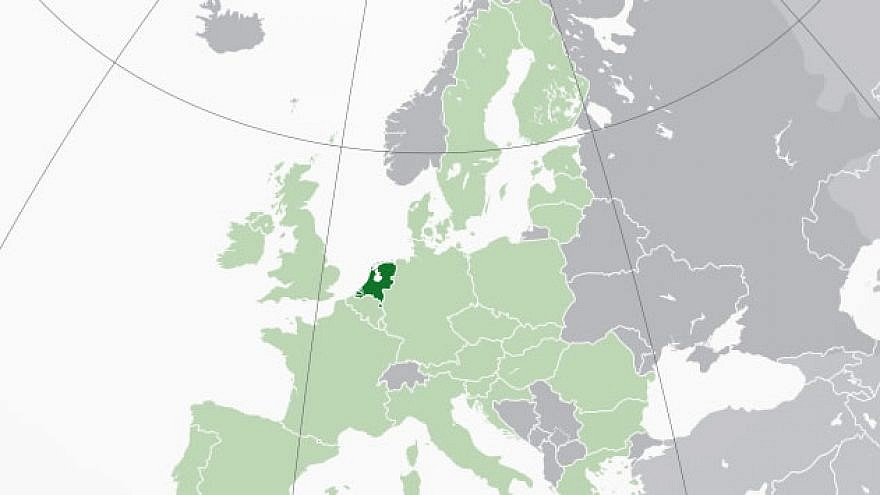 The Netherlands, population 17 million, in dark green. Credit: Wikimedia Commons.