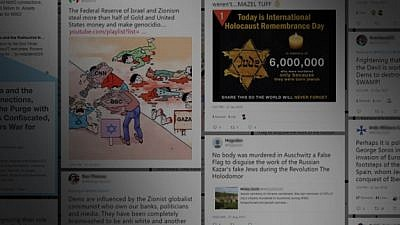 A view of the Anti-Defamation League's Twitter report. Credit: ADL.