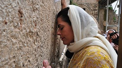 Chele Farley at the Western Wall. Credit: Farley for Senate.