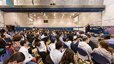 A group shot of the Chidon HaTanach at Manhattan Day School. Credit: David Khabinsky.