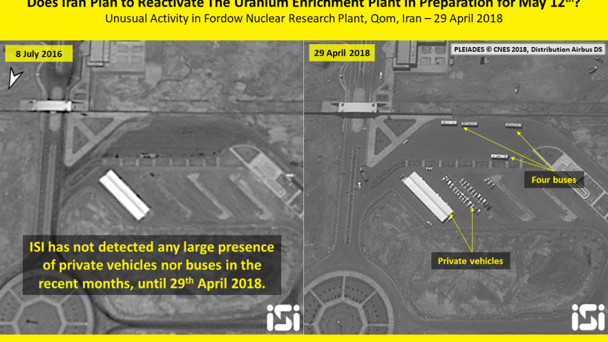 Recent activity at the Fordo nuclear facility in Iran. Credit: ImageSat International.
