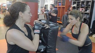 Women training in Krav Maga as part of the Hartford Chapter of The Legion. Credit: Connecticut Jewish Ledger.